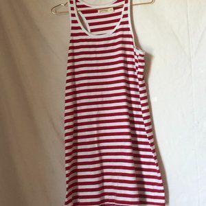 Faded Glory Nautical Red and White striped mini